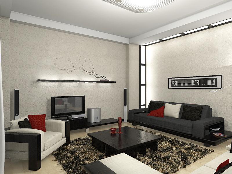Минимализм дизайн гостиной